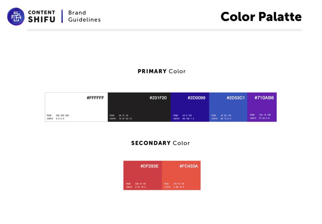 ออกแบบโลโก้ Content Shifu โดยใช้สี