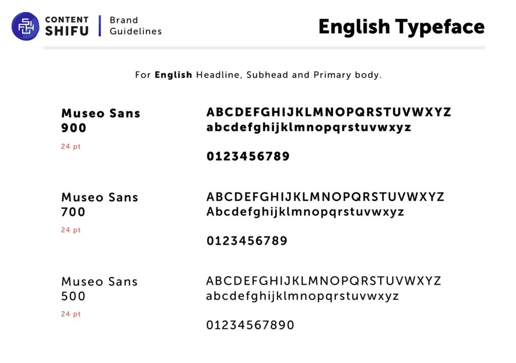 ตัวอย่างฟอนต์ภาษาอังกฤษ