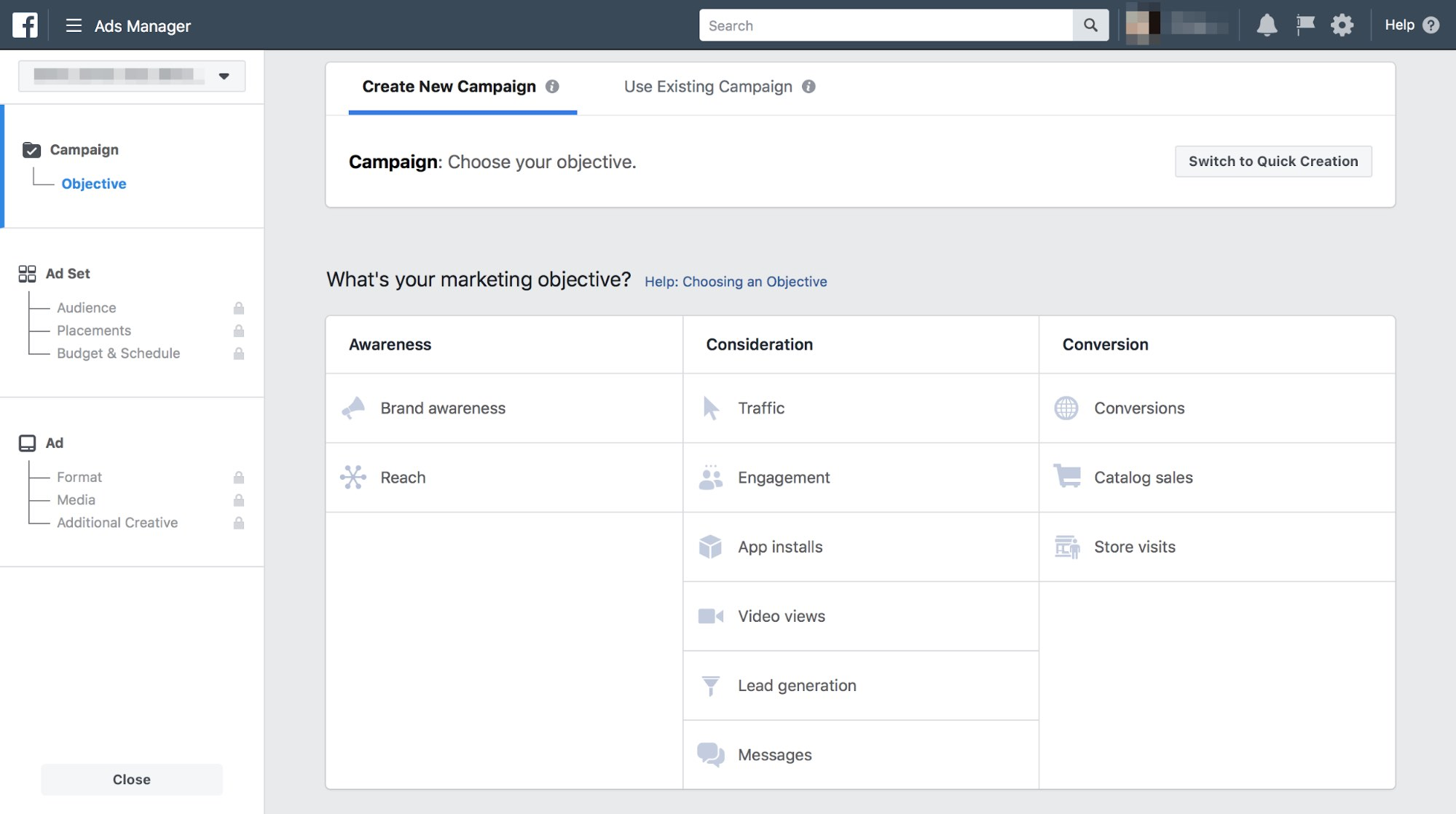 Objective ของ Facebook Ads