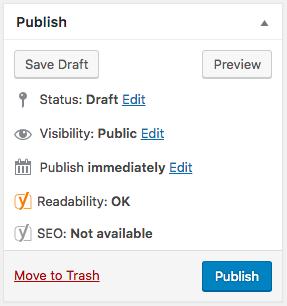 การ Publish บน WordPress
