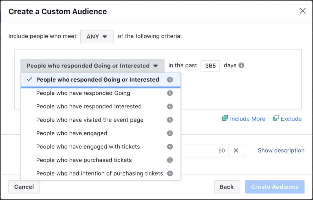 Facebook Event Engagement