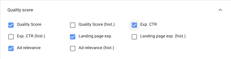 Metrics Google Ads วัด Quality Score