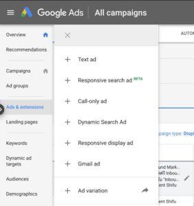 สร้างโฆษณา Google
