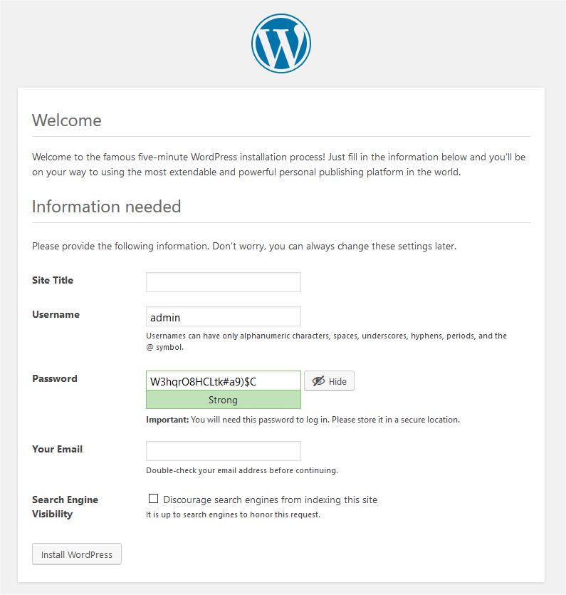 การตั้งรหัส WordPress Admin ทำเว็บไซต์