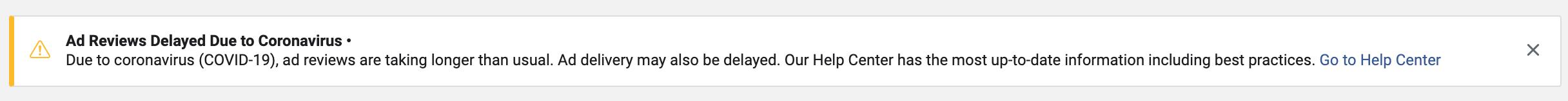 Facebook รีวิวโฆษณานานขึ้น เพราะ วิกฤตโคโรน่า (COVID-19)