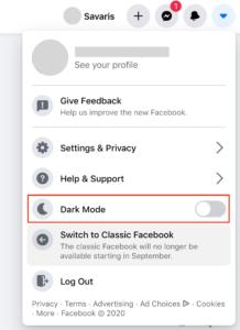 วิธีเปลี่ยน Facebook เป็นโหมดกลางคืน หรือ Dark Mode