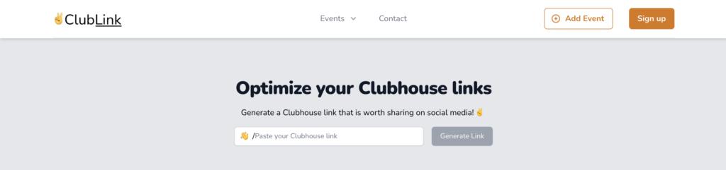 เครื่องมือ Clubhouse - Clublink