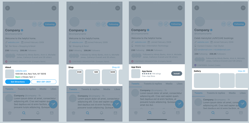 Twitter Professional Profile Feature