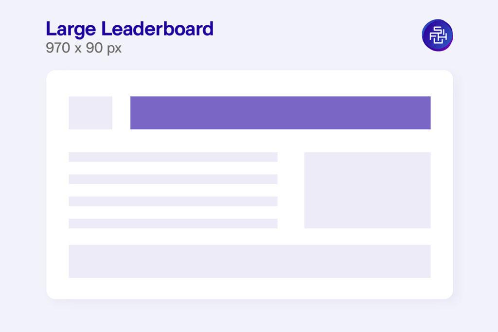 แบนเนอร์ Large Leaderboard ขนาด 970 x 90 Pixel