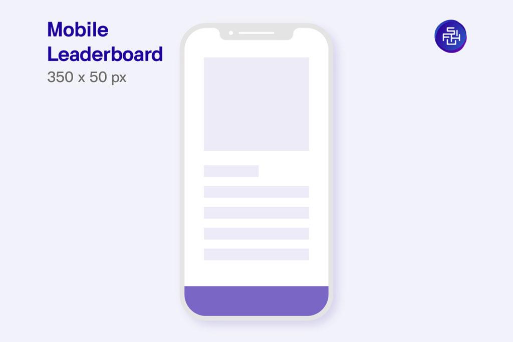 Mobile Leaderboard ขนาด 350 x 50 Pixel