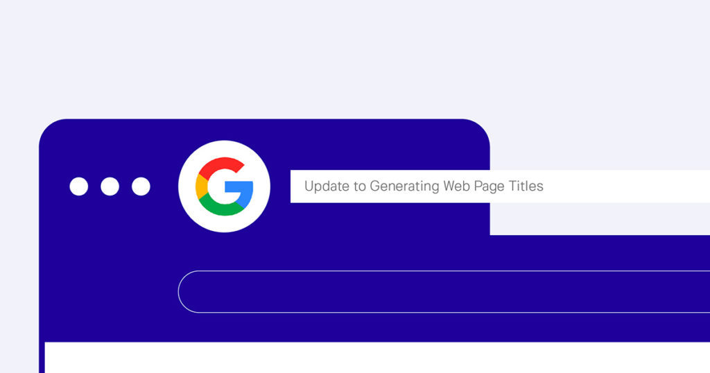 Google updated title tag